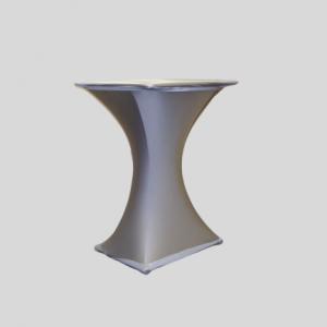 Statafel Vierkant met Zilveren Stretchhoes