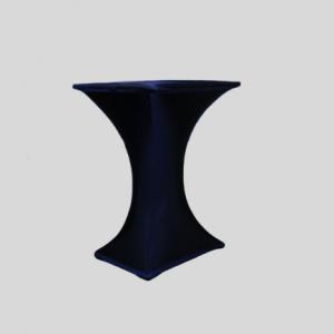 Statafel Vierkant met Blauwe Stretchhoes