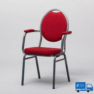 Conferentie stoel Rood + armleuning