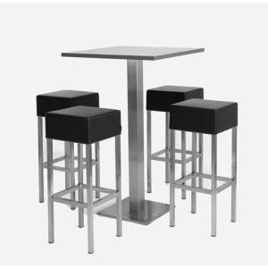 set cube 4 sta tafels  (+ 16 krukken)
