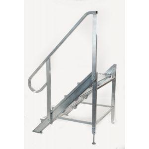 Podiumtrap 100 - 120 cm Aluminium