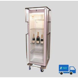 Flessen koelkast Glazen Deur hoog