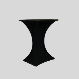 Statafel Vierkant met Zwarte Stretchhoes