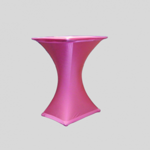 Statafel Vierkant met Fuchsia Stretchhoes